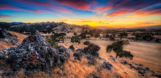 Sunset of Morgan Hill California royalty free stock photo