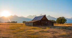 Barn at Grand Teton National Park, WY, USA stock photo