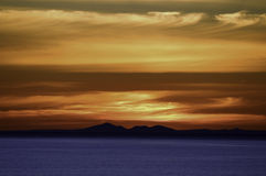 Sunset Mornington, Victoria. Sunset behind You Yangs across Port PhillipBay in Mornington Royalty Free Stock Photography