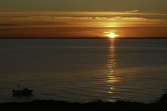 Sunset Mornington, Victoria. Sunset behind You Yangs across Port PhillipBay in Mornington Stock Photos