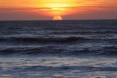 Sunset in Moroc. The beautiful sunset in Sidi-Koki stock photography