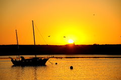 Sunset,morro bay Royalty Free Stock Images