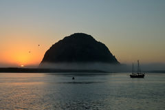 Sunset in Morro Bay Royalty Free Stock Image