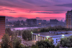 Sunset in Moscow. Spring 2011 Royalty Free Stock Photo