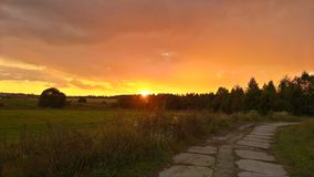 Sunset. Moscow region Kubinka Stock Photo