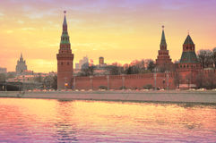 Sunset in Moscow Stock Photo