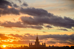 Sunset Moscow State University Stock Photos