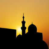 Sunset mosque. landscape with beautiful mosques and minarets. Ve Stock Image