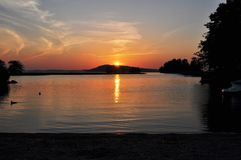 Sunset. The most beautiful sunset that i ever seen Royalty Free Stock Image