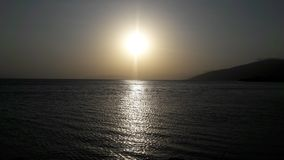 Sunset Sevan Lake in Armenia stock image