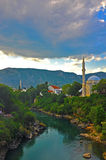 Sunset in Mostar Royalty Free Stock Images