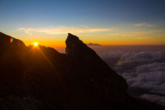 Sunset in Mount Agung Bali Indonesia Stock Images