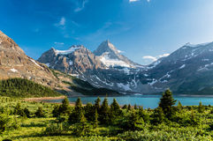 Sunset at Mount Assiniboine Royalty Free Stock Images