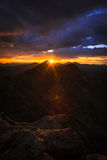 Sunset on Mount Evans Royalty Free Stock Photo