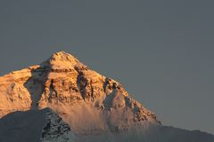Sunset at Mount Everest Stock Photography