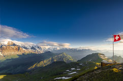 The Swiss Alps at Sunset Royalty Free Stock Images