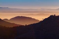 Sunset on Mount Garbí. Valencian Community. Spain Stock Image
