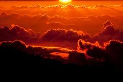 Sunset on Mount Haleakala, Maui HI Royalty Free Stock Photo