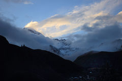 Sunset and Mount Kazbek Stock Photo