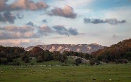 Sunset and Mount Pellecchia, Roma, Italy royalty free stock photos