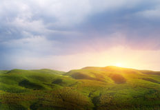 Sunset in mountain. Stock Photography