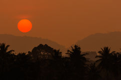 Sunset and mountain. Sunset at Amata city ,Thailand Stock Photography