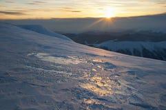 Sunset  in mountain Stock Photo
