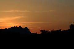 Sunset mountain royalty free stock image