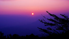 Sunset on the mountain. Chiangmai Thailand Royalty Free Stock Images
