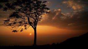 Sunset on the mountain. Chiangmai Thailand Royalty Free Stock Photos