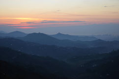 Sunset on the mountain Royalty Free Stock Images