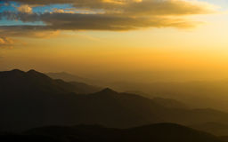 Sunset in mountain. 