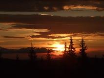 Sunset mountain landscape Stock Photos