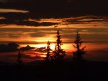 Sunset mountain landscape Royalty Free Stock Images