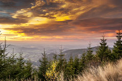 Sunset mountain Stock Photography
