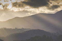 Sunset on the mountain. Motueka New Zealand Stock Photography