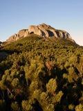 Sunset Mountain Peak. Pyramid-Like Mountain Peak At Dusk In Ceahlau National Park Romania Stock Image