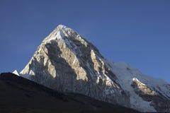 Sunset of Mountain Pumori Stock Photography