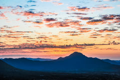 Sunset and Mountain in Thailand. Sunset and Mountain in Loei,Thailand royalty free stock photography