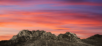 Sunset in the mountains Royalty Free Stock Photo