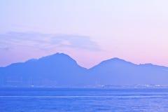 Sunset mountains Stock Image