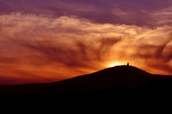 Sunset on mountains Stock Images