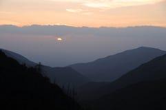 Sunset in the mountains. Sunset in san bernardino mountains in california Royalty Free Stock Photo