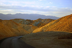 Sunset in mountains. Sunset on mountains of a valley of death in california Stock Image