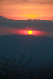 Sunset in the mountains Royalty Free Stock Images