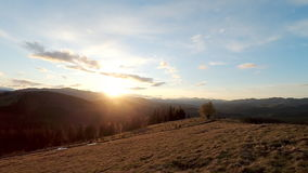 Sunset in the mountains. stock video footage