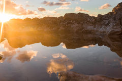 Sunset at mountains Royalty Free Stock Images