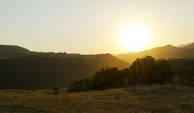 Sunset. In Mountains, field, nature Stock Photo
