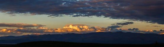 Sunset in the mountains of Khibiny, Kola Peninsula . Sunset in the mountains of Khibiny, Kola Peninsula , Russia Royalty Free Stock Image