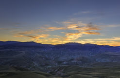 Sunset in the mountains Khizi.Azerbaijan Stock Photo
